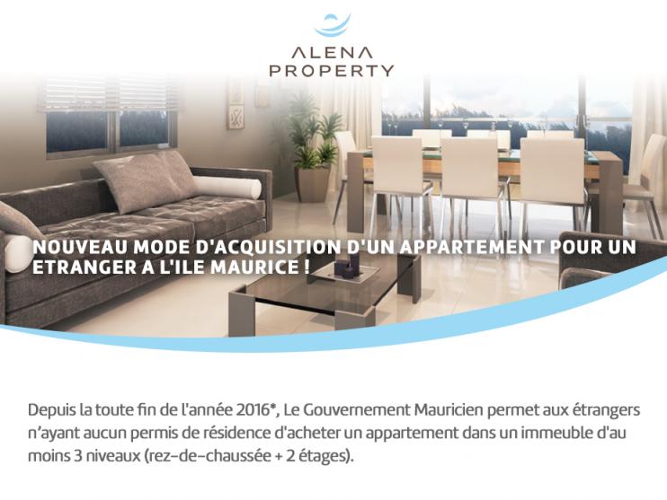 Nouveau mode d'acquisition d'un appartement pour un étranger à l'île Maurice